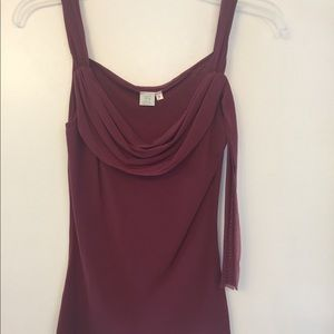 Wine color sleeveless top